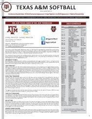 TEXAS A&M SOFTBALL - Aggie Athletics