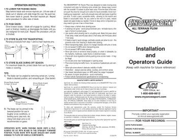 Plow assembly top view 1 snowsport atv snow plow owners manual sciox Images