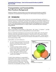 Transportation and Sustainability Best Practices Background 1.0 ...