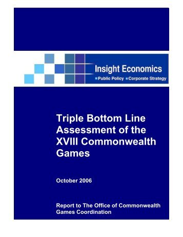 Triple Bottom Line Assessment of the XVIII Commonwealth Games