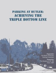 Achieving the Triple Bottom Line - Butler University