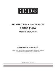 PICKUP TRUCK SNOWPLOW SCOOP PLOW - Hiniker