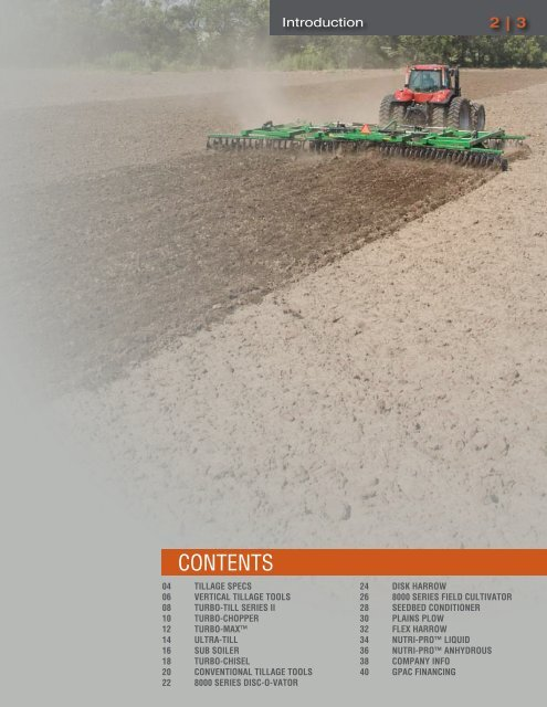 TILLAGE SYSTEMS - Great Plains