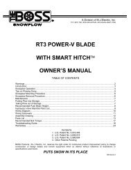 RT3 Power-V Blade w/SmartHitch Owner's Manual - Boss Products