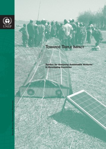 Towards Triple Impact - UNDP-UNEP Poverty Environment Initiative