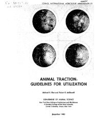 ANIMAL TRACTION: GUIDELINES FOR UTILIZATION