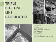 triple bottom line calculator - Boston Redevelopment Authority