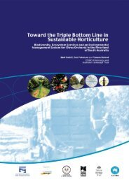 Toward the Triple Bottom Line in Sustainable Horticulture