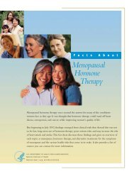 Facts About Menopausal Hormone Therapy - National Heart, Lung ...