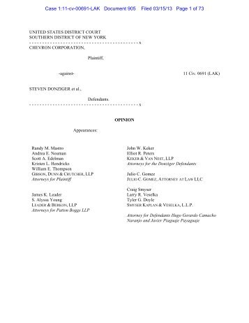 Case 1:11-cv-00691-LAK Document 905 Filed 03/15/13 Page 1 of 73