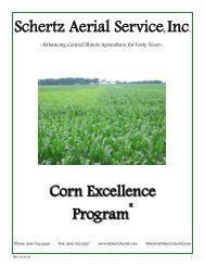 Schertz Aerial Service Corn Excellence Program