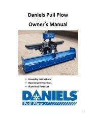 Daniels Pull Plow Owner's Manual - Daniels Plows