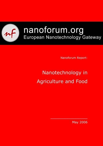Nanotechnology in Agriculture and Food - Nanoforum
