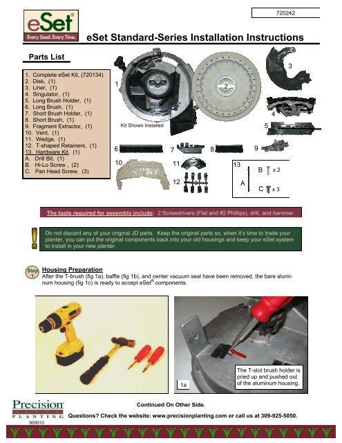 eSet Standard-Series Installation Instructions - Precision Planting