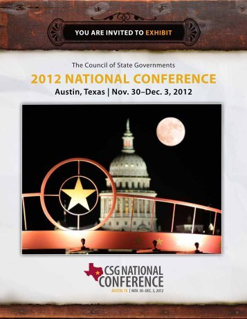 2012 NATIONAL CONFERENCE - The Council of State Governments