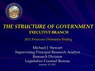 The Structure of Government in Nevada: Executive Branch