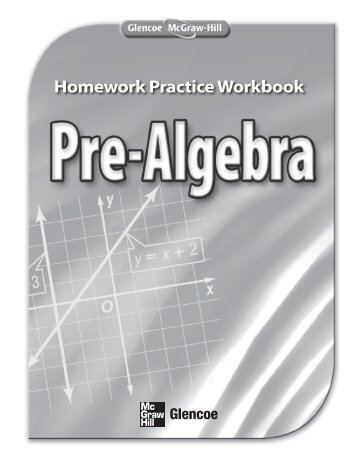 homework practice workbook algebra 1 glencoe answers
