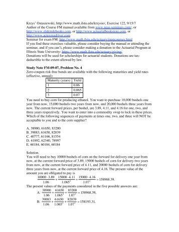 Krzys' Ostaszewski, http://www.math.ilstu.edu/krzysio/, Exercise 122 ...