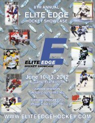 2012 Brochure - Elite Edge Hockey