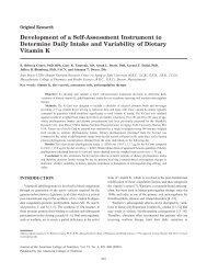 Development of a Self-Assessment Instrument to Determine Daily ...