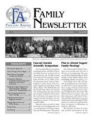 FA Family News 3/01 - Fanconi Anemia Research Fund