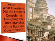 Lesson 11 - Designing the Three Branches of National
