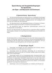 Sparordnung und Ausgabebedingungen für Sparbriefe der Spar ...