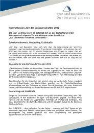 Internationales Jahr der Genossenschaften 2012 - Spar