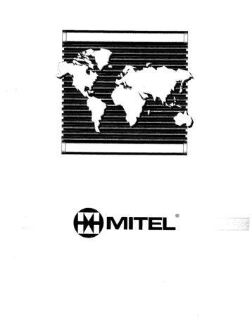 Mitel Sx50 Manual