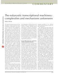 The eukaryotic transcriptional machinery - The Lasker Foundation
