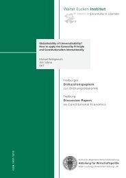 Globalisability of Universalisability? - Walter Eucken Institut