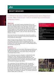 RECKITT BENCKISER - Cranfield School of Management