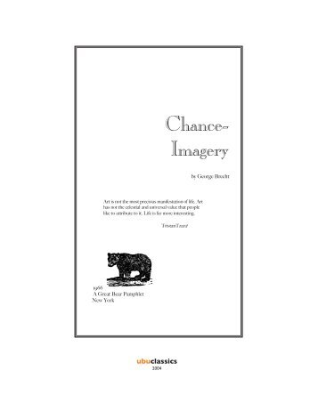 George Brecht: Chance-Imagery - Wes Kline