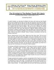 The Sh'mittah & The Perfect Torah Of Liberty