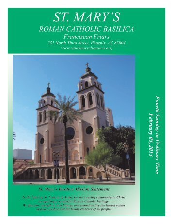 Fourth Sunday in Ordinary Time February 03 ... - St. Mary's Basilica