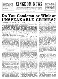 UNSPEAKABLE CRIMES? - Watchtower Archive