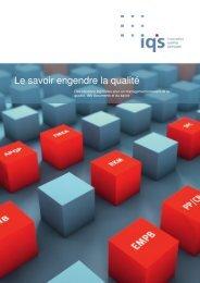 Le savoir engendre la qualité - iq's consulting GmbH