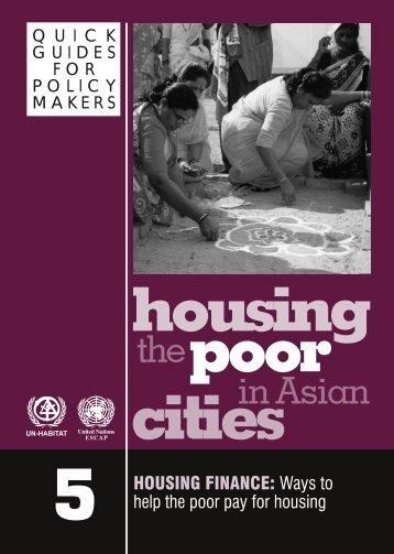 Housing the Poor - UN-Habitat