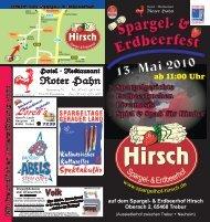 Anfahrt zum Spargel- & Erdbeerfest - Spargelhof Hirsch