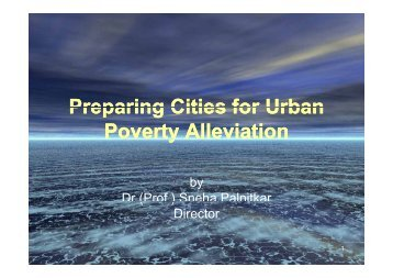 Preparing Cities for Urban Preparing Cities for Urban Poverty ...