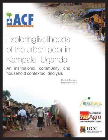 Exploring livelihoods of the urban poor in Kampala, Uganda