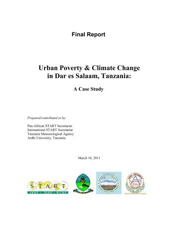Urban Poverty & Climate Change in Dar es Salaam, Tanzania: