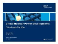 Global Nuclear Power Developments - Local Sections