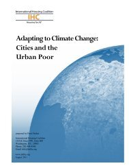 Adapting to Climate Change: Cities and the Urban Poor