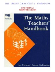 THE MATHS TEACHER'S HANDBOOK - Arvind Gupta
