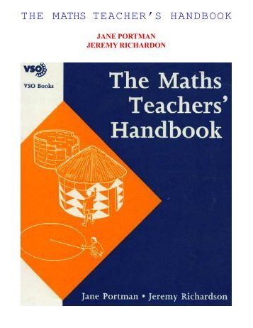 THE MATHS TEACHER'S HANDBOOK - Arvind Gupta