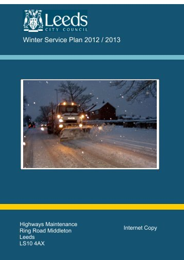 Winter Service Plan 2012 / 2013