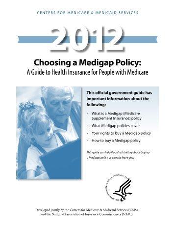 Choosing a Medigap Policy Guide - Medicare.gov