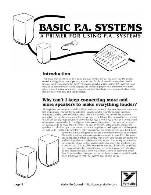 Basic PA systems primer - Yorkville Sound