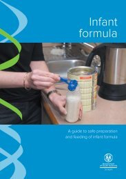 a guide to safe preparation and feeding of infant formula - Child and ...